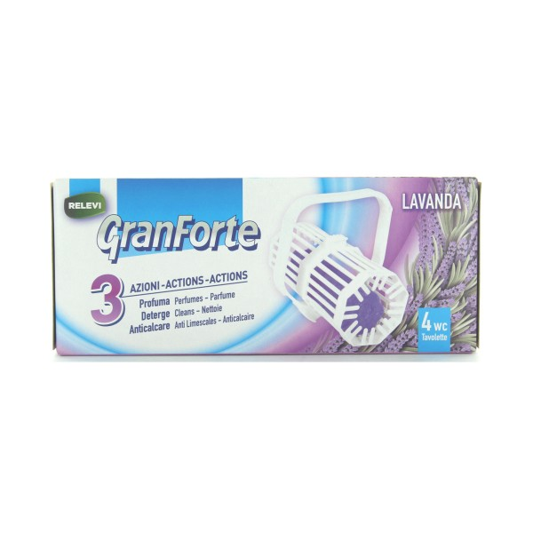 GRANFORTE WC TAVOLETTE SOLIDE LAVANDA 4 PEZZI, CURA WC, S143013, 81178