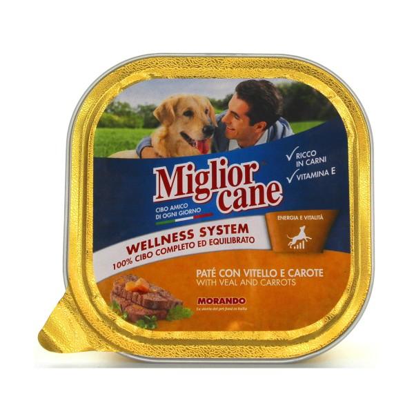 MIGLIOR CANE PATE' VITELLOeCAROTE VASCHETTA 300 GRAMMI, NUTRIZIONE, S038560, 81464