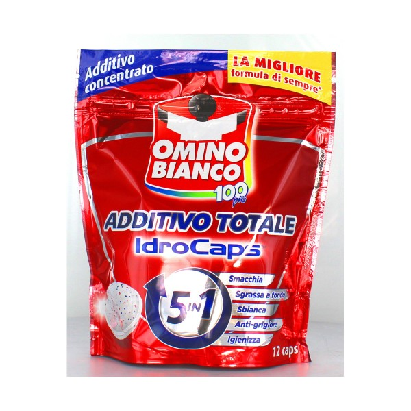 OMINO BIANCO ADDITIVO 100 PIU' IDROCAPS SMACCHIATORE 12 PZ, TRATTAMENTO BUCATO, S088446, 81465
