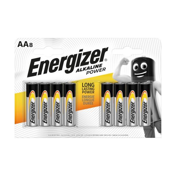 ENERGIZER AA STILO V1,5 ALKALINE POWER BLISTER 8 PZ , PILE, S131876, 81511