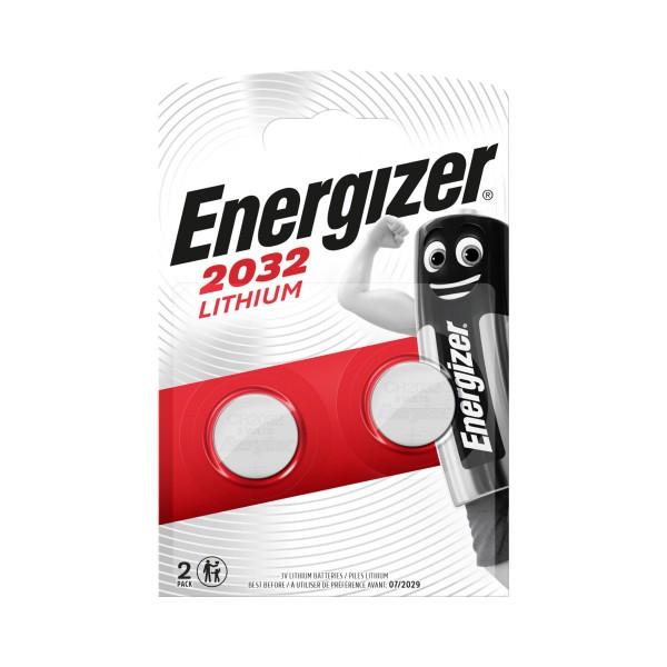 ENERGIZER 2032 LITHIUM 3V BLISTER 2 PZ  BATTERIA, PILE, S125510, 81512