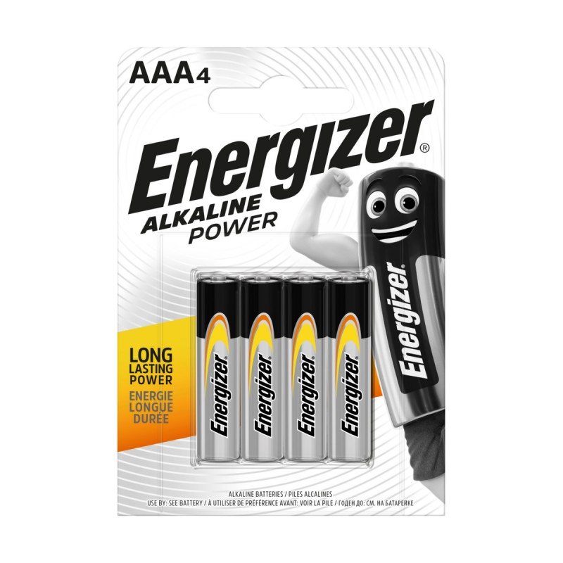 ENERGIZER AAA MINISTILO 1,5V ALKALINE POWER BLISTER 4 PZ