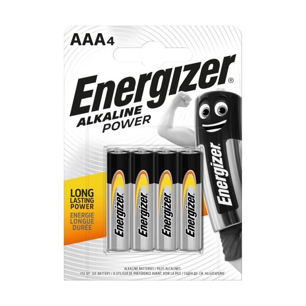 ENERGIZER AAA MINISTILO 1,5V ALKALINE POWER BLISTER 4 PZ, PILE, S125509, 81513