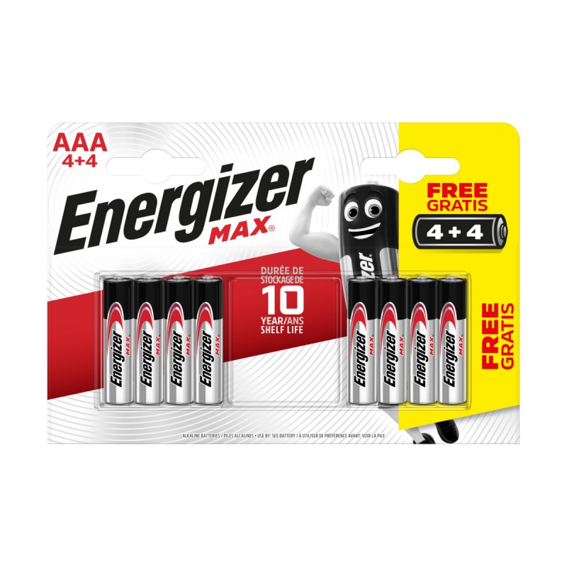 ENERGIZER AAA MINISTILO 1,5V MAX ALKALINE BLISTER 4+4 PZ