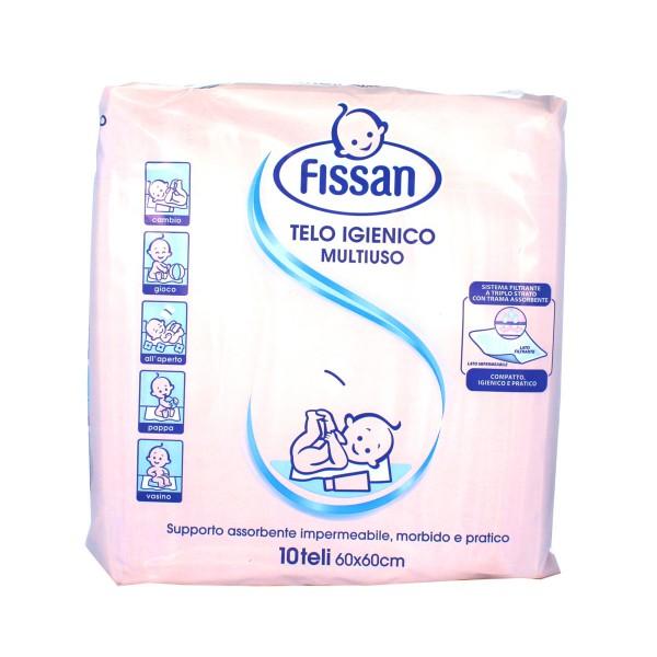 FISSAN BABY TELO IGIENICO MULTIUSO 10pz 60x60, IGIENE PRIMA INFANZIA, S038691, 81705