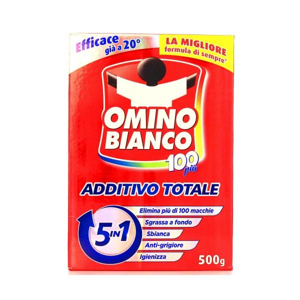 OMINO BIANCO ADDITIVO 100 PIU' 5 IN 1 500 GR, TRATTAMENTO BUCATO, S040076, 81956