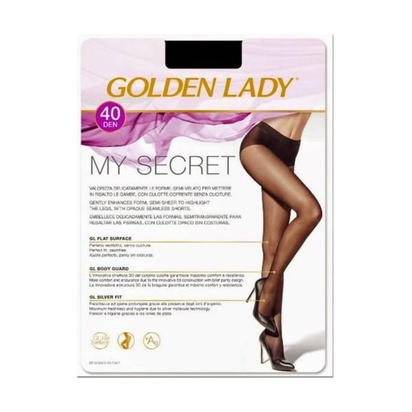 GOLDEN LADY COLLANT MY SECRET 40 DENARI NERO TAGLIA 2/S, CALZE, COLLANT & GAMBALETTI, S131980, 82018