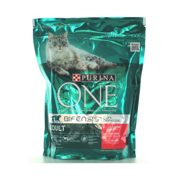 PURINA ONE GATTO ADULT BUSTA SALMONE-CEREALI INTEGRALI 800gr, NUTRIZIONE, S131097, 82083