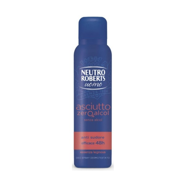 NEUTRO ROBERTS DEODORANTE SPRAY UOMO ESSENZA LEGNOSA 150 ML, DEODORANTI ANTIODORE PER PERSONA, S158166, 82416