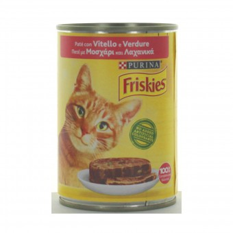 FRISKIES GATTI PATE' VITELLO-VERDURE LATTINA 400 GRAMMI