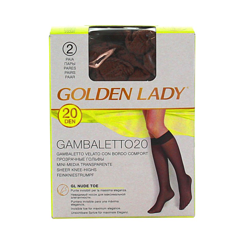 GOLDEN LADY GAMBALETTO 20 DEN VISONE TAGLIA UNICA