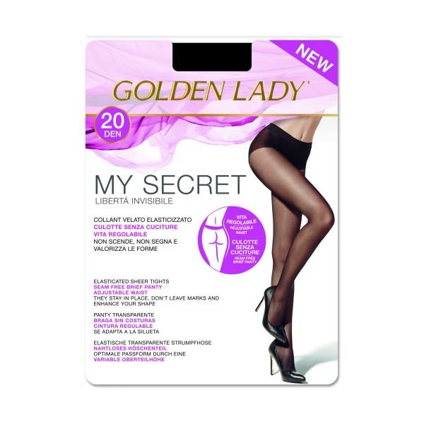 GOLDEN LADY COLLANT MY SECRET 20 DENARI NERO TAGLIA 4/L  , CALZE, COLLANT & GAMBALETTI, S131974, 83168