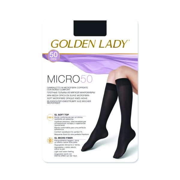GOLDEN LADY GAMBALETTO MICROFIBRA 50 DEN NERO TAGLIA UNICA, CALZE, COLLANT & GAMBALETTI, S094743, 83219