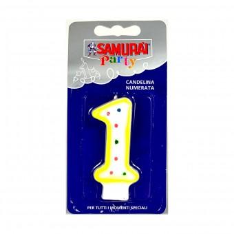 SAMURAI PARTY CANDELA COMPONIBILE N.1