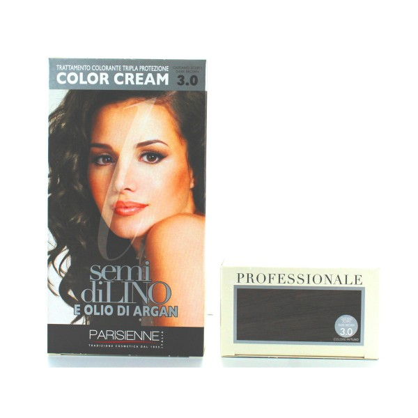 SEMI DI LINO E OLIO DI ARGAN COLOR CREAM 3.0 CASTANO SCURO, COLORANTI, S125988, 84240