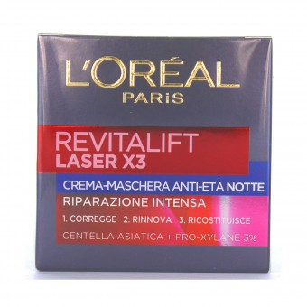 L'OREAL CREMA VISO REVITALIFT LASER X3  NOTTE 50 ML