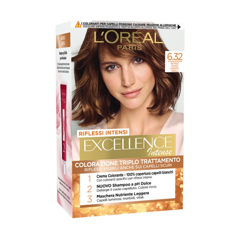 EXCELLENCE INTENSE COLORAZIONE 6.32 BIONDO SCURO DORATO PERLA
