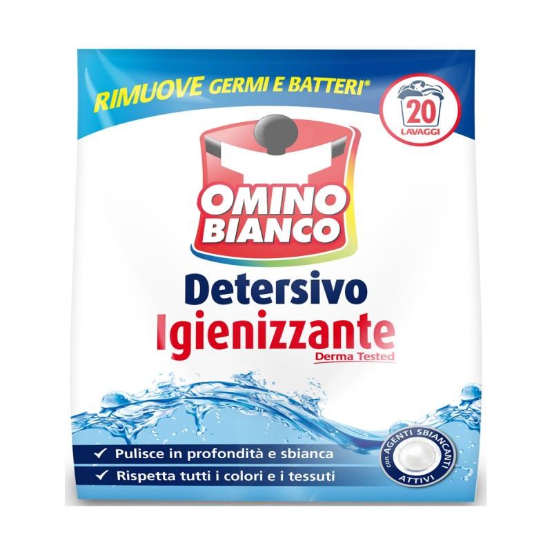 OMINO BIANCO DETERSIVO+IGIENIZZANTE 20 LAVAGGI KG 1,100