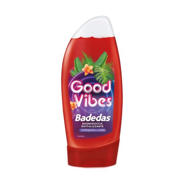 BADEDAS BAGNODOCCIA GOOD VIBES RIVITALIZZANTE MELOGRANO E MELA 250 ML, BAGNO/DOCCIA SCHIUMA, S113383, 84659