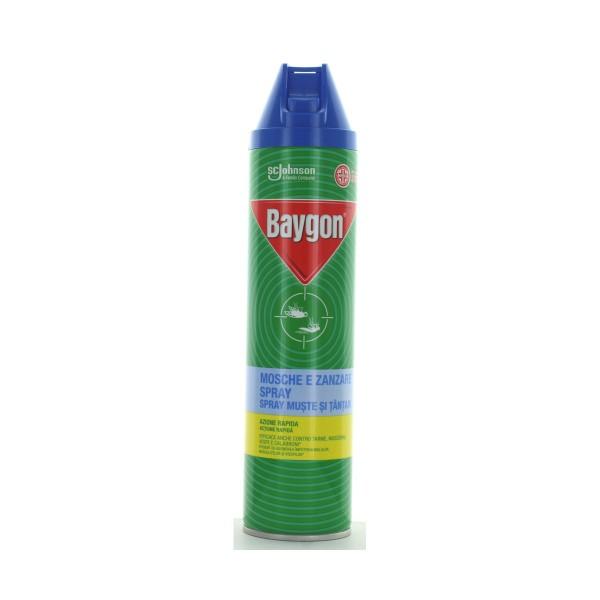 BAYGON BLU PLUS INSETTICIDA SPRAY MOSCHE E ZANZARE 400 ML, INSETTICIDI VOLANTI, S004163, 84697