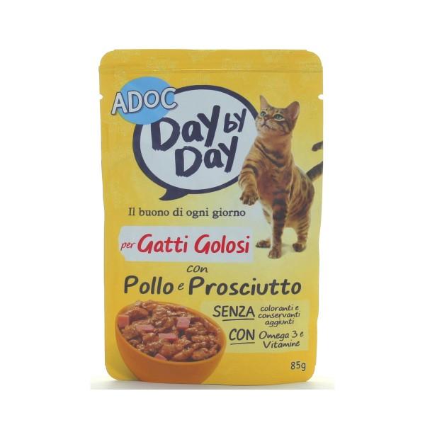 ADOC GATTI DAYbyDAY POLLO-PROSCIUTTO COTTO A VAPORE BUSTA 85 GRAMMI, NUTRIZIONE, S117142, 84716