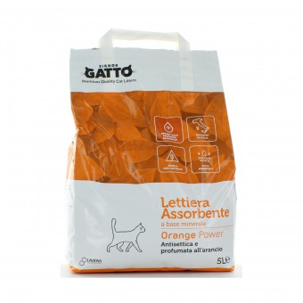 SIGNOR GATTO LETTIERA ANTIBATTERICA ORANGE POWER SACCO 5 L