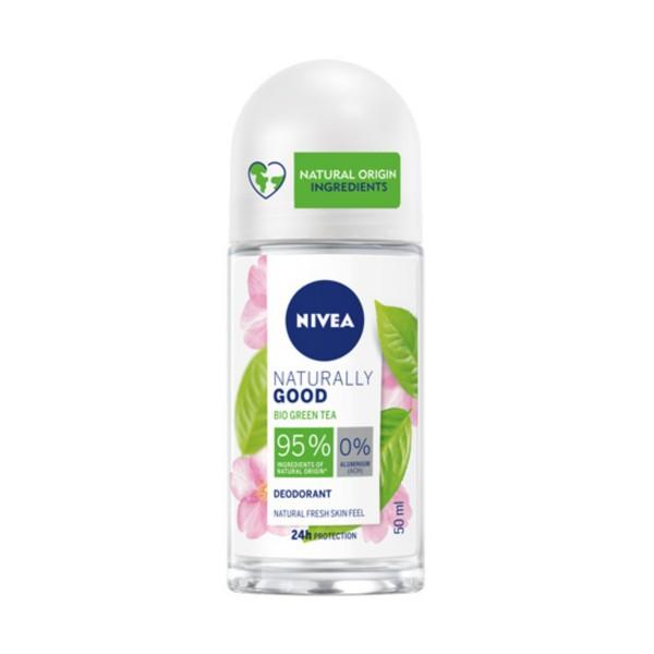 NIVEA DEODORANTE ROLL-ON NATURALLY GOOD BIO GREEN TEA 24H 50 ML, DEODORANTI ANTIODORE PER PERSONA, S159455, 84815
