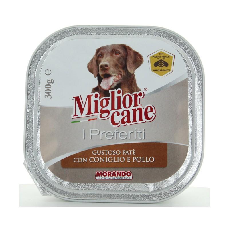 MIGLIOR CANE I PREFERITI PATE' CONIGLIO e POLLO VASCHETTA 300 grammi