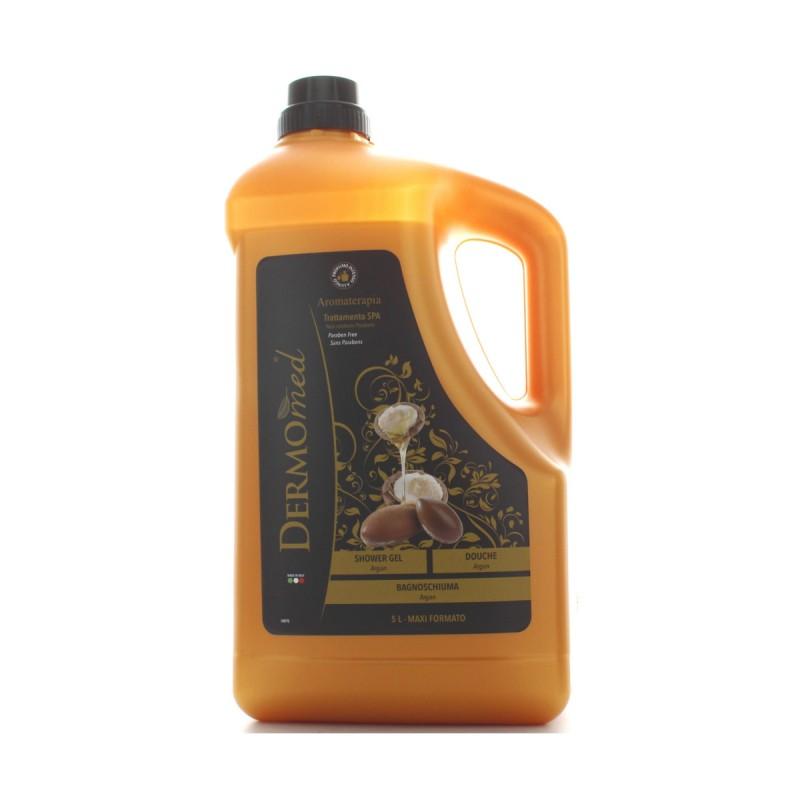 DERMOMED BAGNOSCHIUMA SETIFICANTE pH 5,5 OLIO D'ARGAN  5 LITRI TANICA FORMATO PROFESSIONALE