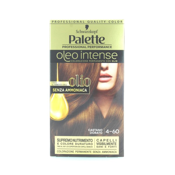 PALETTE OLEO INTENSE SENZA AMMONIACA N.4-60 CASTANO DORATO, COLORANTI, S116864, 85024
