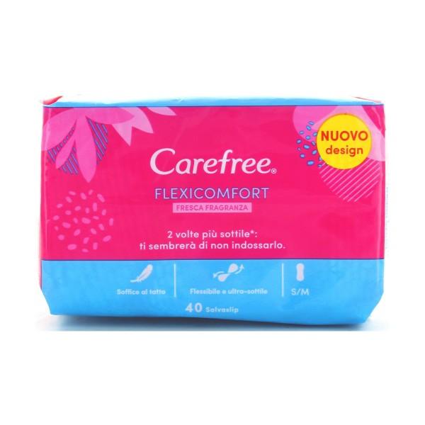 CAREFREE SALVASLIP FLEXI COMFORT 40 PZ., PROTEGGISLIP, S134640, 85125