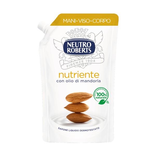 NEUTRO ROBERTS SAPONE LIQUIDO NUTRIENTE CON OLIO DI MANDORLA BUSTA ECO 400 ML , SAPONI, S159594, 85167