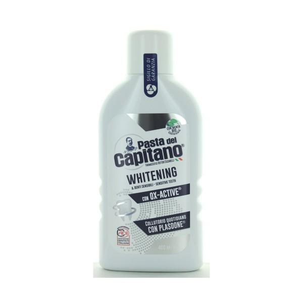 PASTA DEL CAPITANO COLLUTORIO WHITENING E DENTI SENSIBILI OX-ACTIVE 400 ML, COLLUTORI, S093418, 85212
