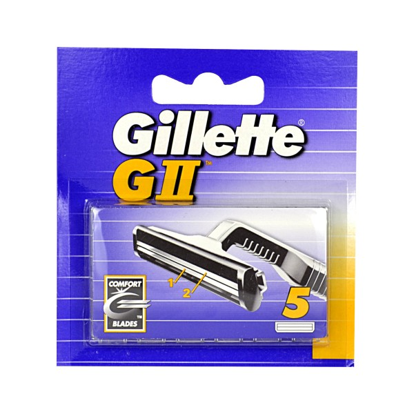 GILLETTE G2 RICAMBI 5 PZ. , LAME E RASOI PER UOMO, S000070, 8523
