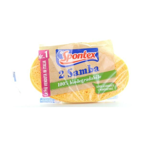 SPONTEX SPUGNA SAMBA x2 , SPUGNE PIATTI E CUCINA/PANNI SPUGNA, S000516, 85287