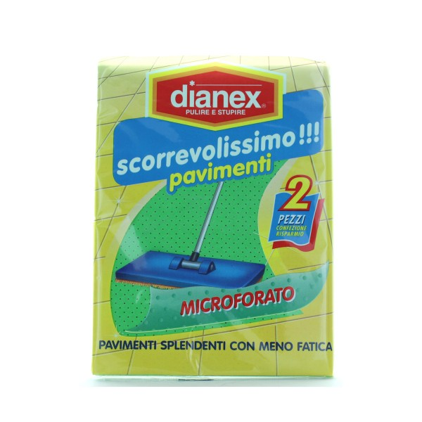 DIANEX SCORREVOLISSIMO PAVIMENTI 2 PZ, PANNI VETRO / MULTIUSO, S159645, 85296