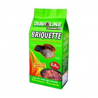 DIAVOLINA BRIQUETTE CARBONE VEGETALE SACCO 2,5 KG