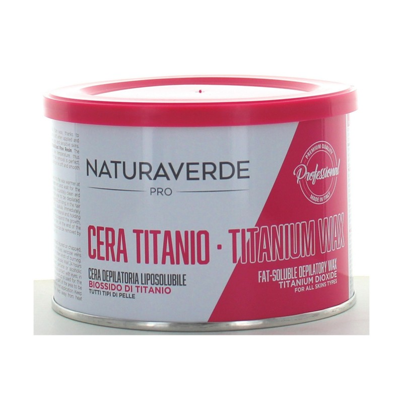NATURAVERDE PROFESSIONAL CERA DEPILATORIA TITANIO 400 ML