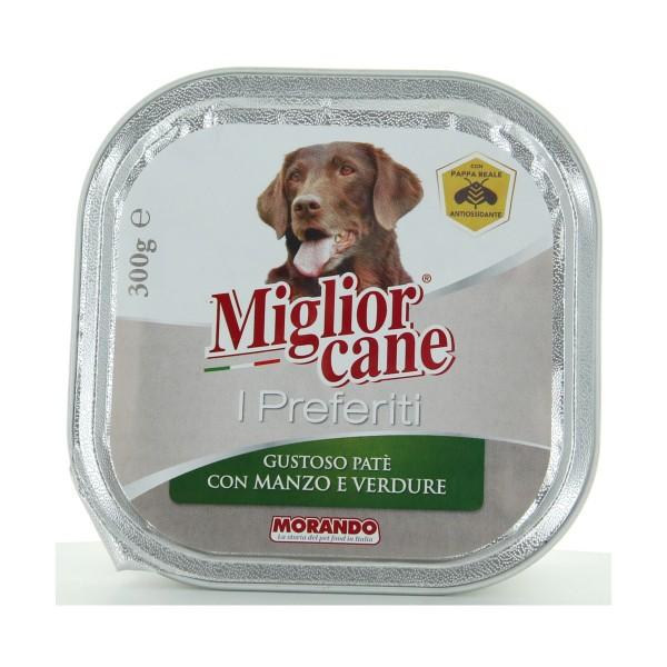 MIGLIOR CANE I PREFERITI PATE' MANZO e VERDURE VASCHETTA 300 grammi , NUTRIZIONE, S158169, 85537