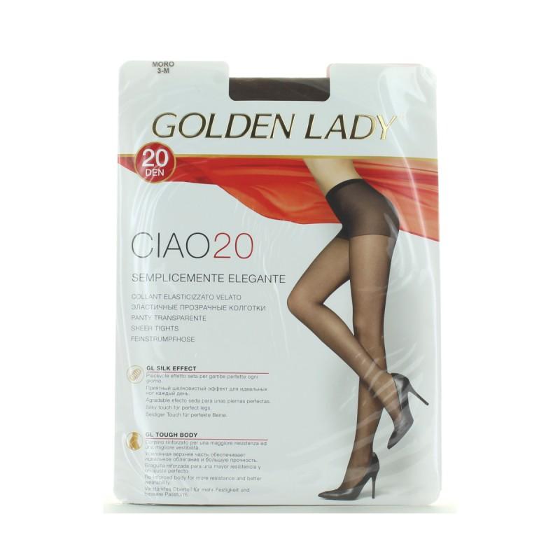 GOLDEN LADY CIAO COLLANT 20 DEN 36O MORO TAGLIA 3