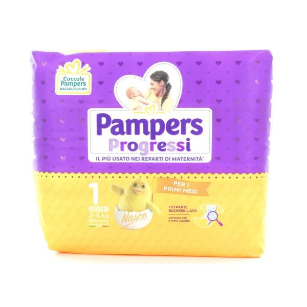 PAMPERS PANNOLINI PROGRESSI 1 NEWBORN 2-5 Kg 28 PZ. , PANNOLINI, S007024, 85683