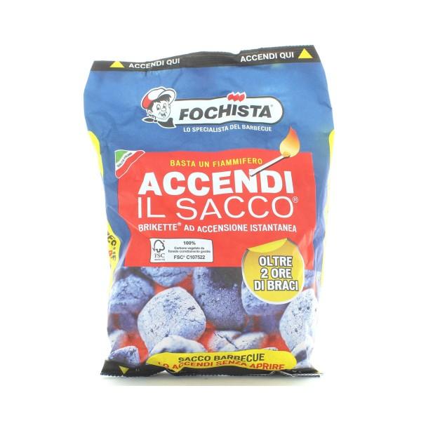 FOCHISTA BBQ ACCENDI IL SACCO CARBONELLA COMPATTA KG 1,3, CARBONELLA, S155707, 86304