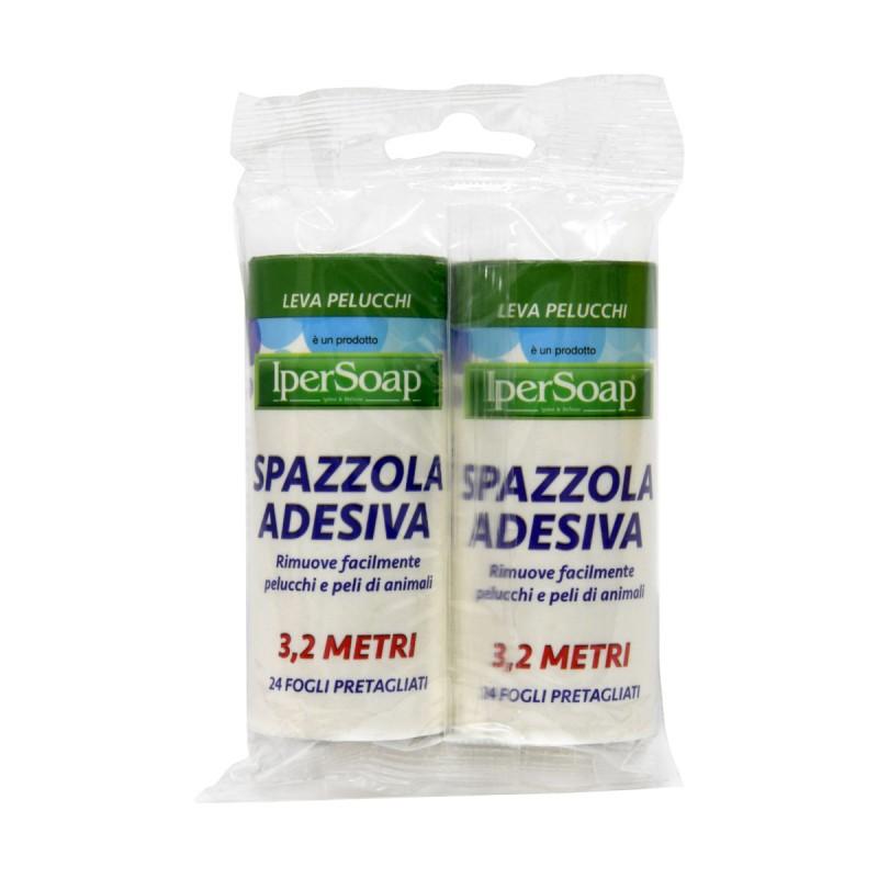 IPERSOAP 2 RICAMBI PER SPAZZOLA ADESIVA 3,2 MT 24 FOGLI PRETAGLIATI
