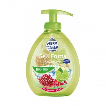 FRESH & CLEAN SAPONE LIQUIDO MANI GEL FRUTTA MELOGRANO E LIME 300 ML.