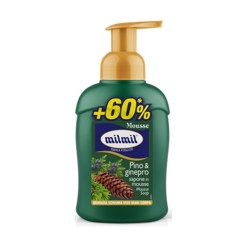 MIL MIL SAPONE MOUSSE COMPELTO PINO & GINEPRO 450 ML