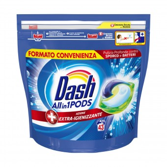 DASH 43 ECODOSI PODS ALL IN 1 EXTRA IGIENIZZANTE