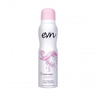 EVIN FEMME BODY SPRAY QUARTZ FIOR DI MANDORLO & LEGMO DI SANDALO 150 ML