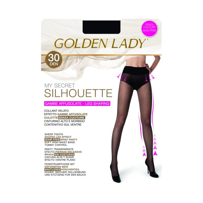 GOLDEN LADY MY SECRET SILHOUETTE 30 DENARI 28T NERO TAGLIA 5/XL