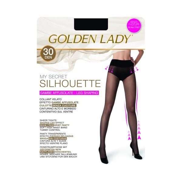 GOLDEN LADY MY SECRET SILHOUETTE 30 DENARI 28T NERO TAGLIA 5/XL, CALZE, COLLANT & GAMBALETTI, S150889, 86799