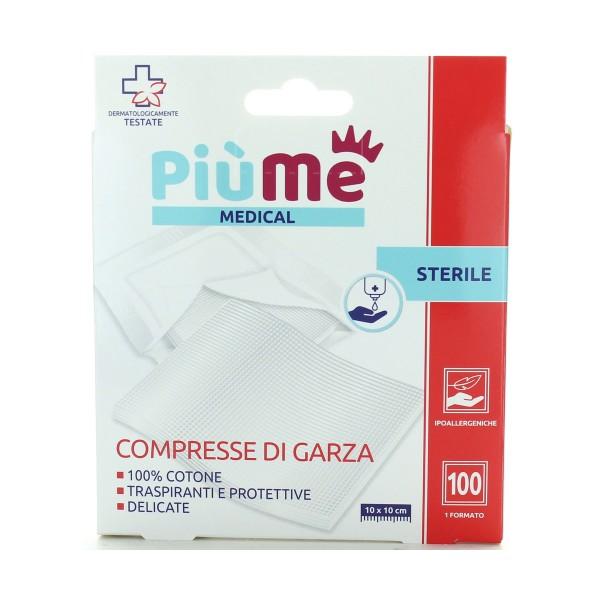 PIUME PRIMO SOCCORSO COMPRESSA DI GARZA 100 PZ 10*10 CM, MEDICAZIONE & PRONTO SOCCORSO, S160383, 86892